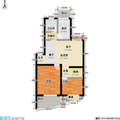良城美景家园2室0厅1卫1厨135.00㎡户型图
