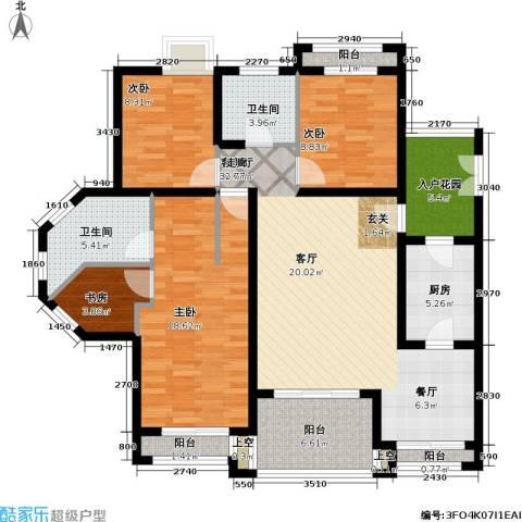 爱加丽都(一期)4室1厅2卫1厨113.00㎡户型图