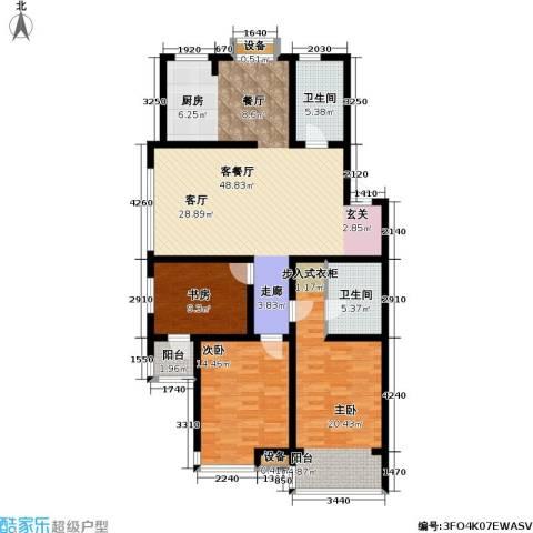 金世纪.红枫苑3室1厅2卫0厨153.00㎡户型图