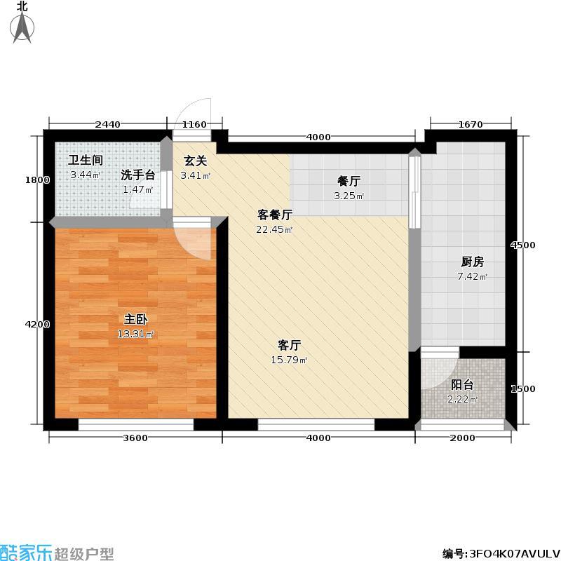 如意家园户型1室1厅1卫1厨