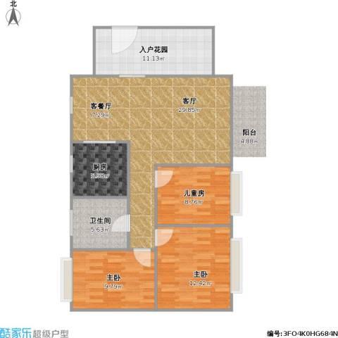 凯悦美景花园3室1厅1卫1厨112.00㎡户型图