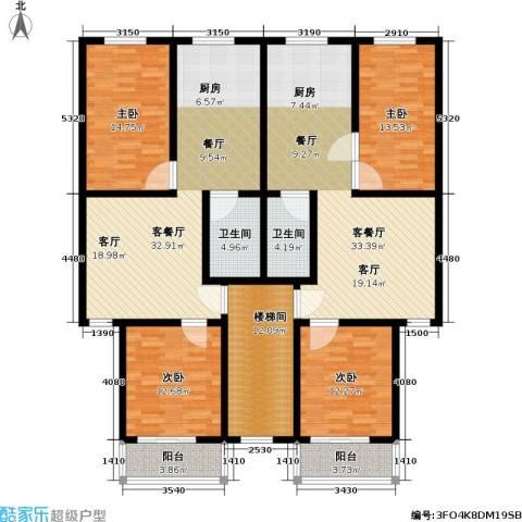 翠屏北里4室2厅2卫0厨148.38㎡户型图