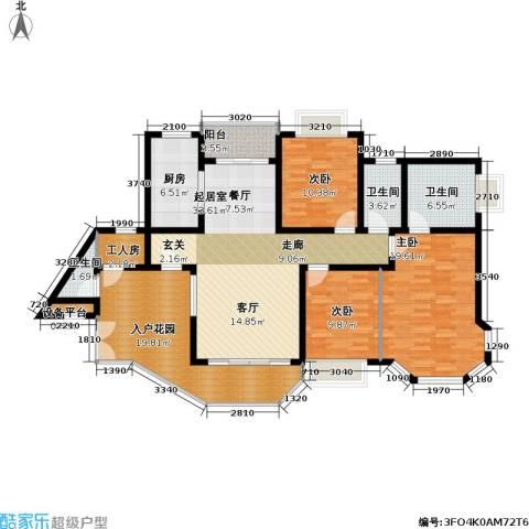 恒大绿洲3室0厅3卫1厨170.00㎡户型图