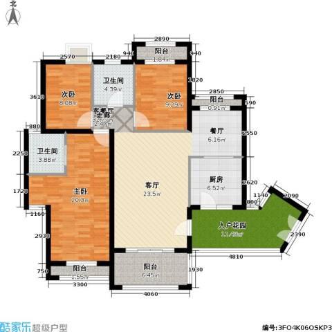 爱加丽都(一期)3室1厅2卫1厨113.00㎡户型图