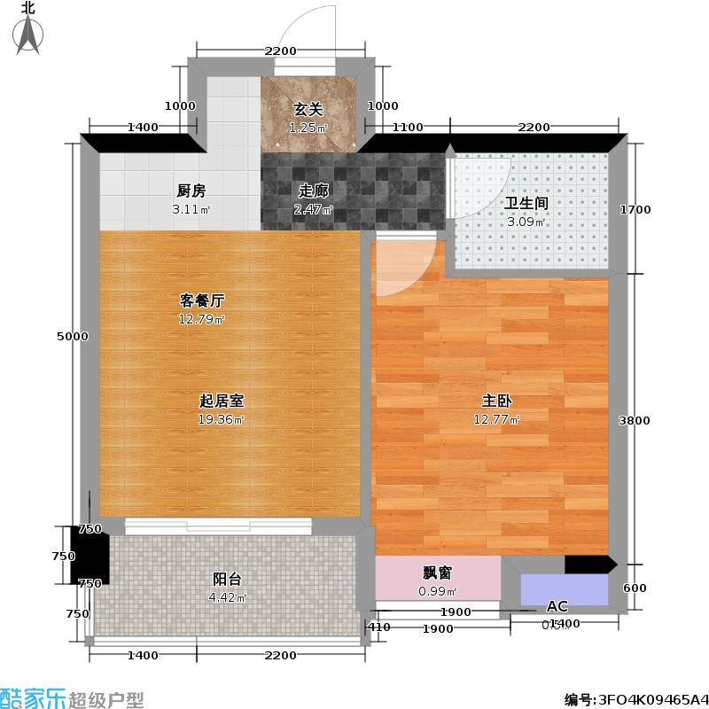 颐和丽晶51.56㎡B2栋B型户型