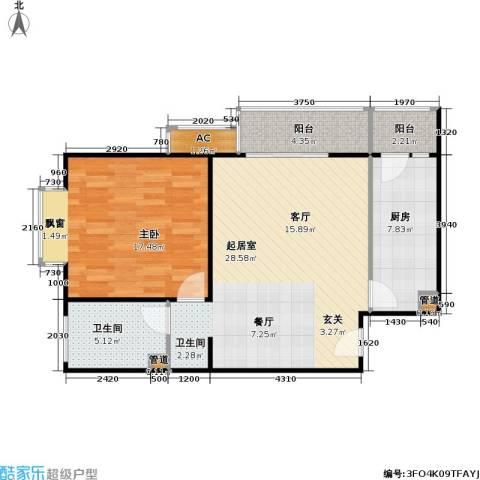 潮白人家1室0厅1卫1厨71.00㎡户型图
