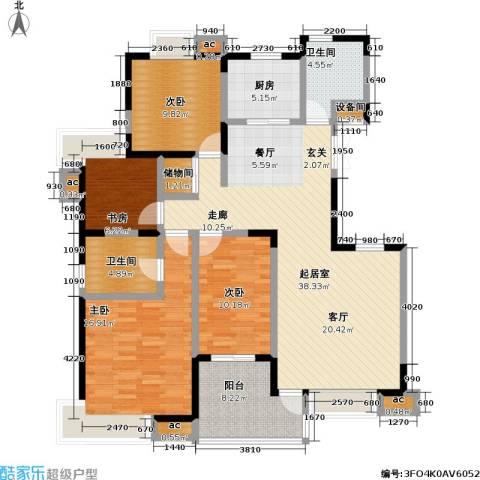 银城西堤国际4室0厅2卫1厨107.50㎡户型图