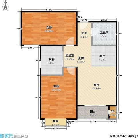 潮白人家2室0厅1卫1厨82.00㎡户型图