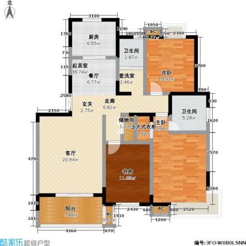 银城西堤国际3室0厅2卫1厨122.00㎡户型图