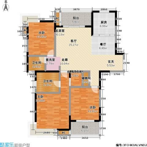 银城西堤国际3室0厅2卫1厨139.00㎡户型图