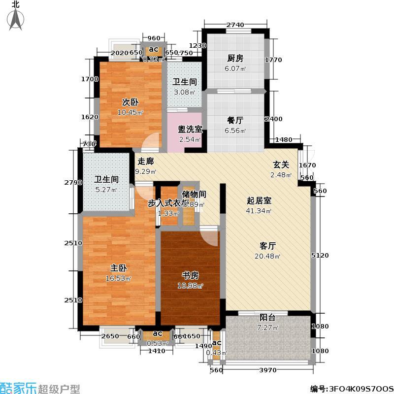 银城西堤国际户型3室2卫1厨