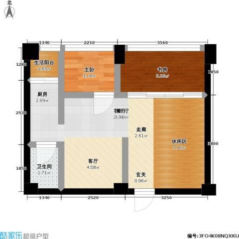 白金假日公寓2室1厅1卫0厨40.00㎡户型图