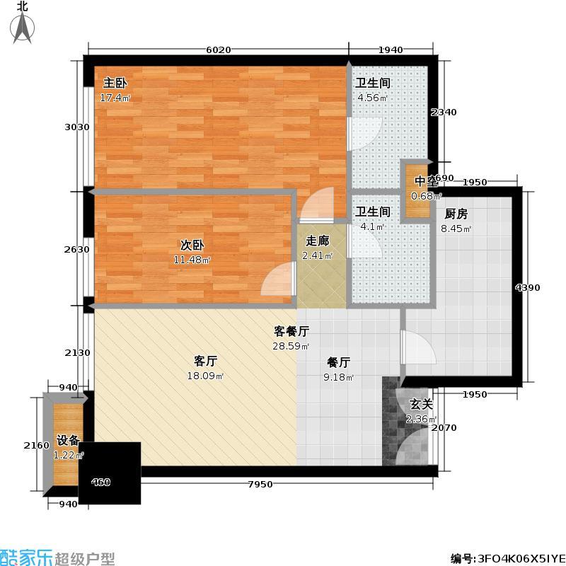 尚峰公寓瑞安广州中心84.00㎡小单位户型