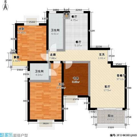 万和源居3室1厅2卫0厨108.00㎡户型图