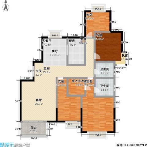 万和源居4室1厅2卫1厨161.00㎡户型图