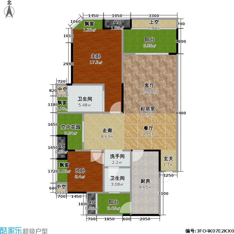 融创・御锦御锦89.37㎡1期3-1号楼4-15层AB号房户型