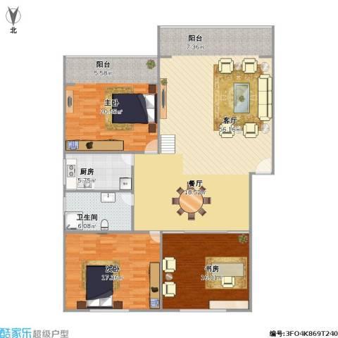 逸东花园3室1厅1卫1厨161.00㎡户型图
