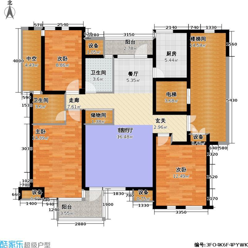 水云居131.50㎡水云居户型图房型:三房;面积段:131.5-136.02平方米;(8/8张)户型10室