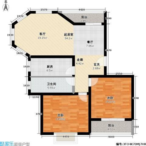 金桥新城二期2室0厅1卫1厨94.00㎡户型图