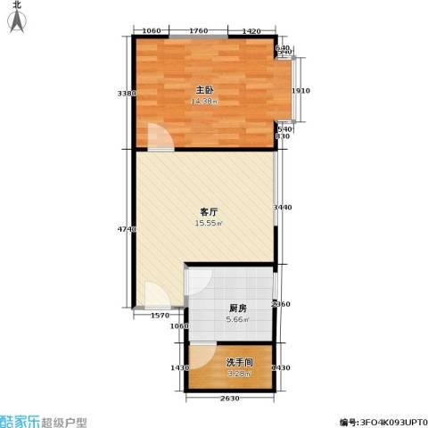 阳光名城(一期)1室1厅0卫1厨48.00㎡户型图