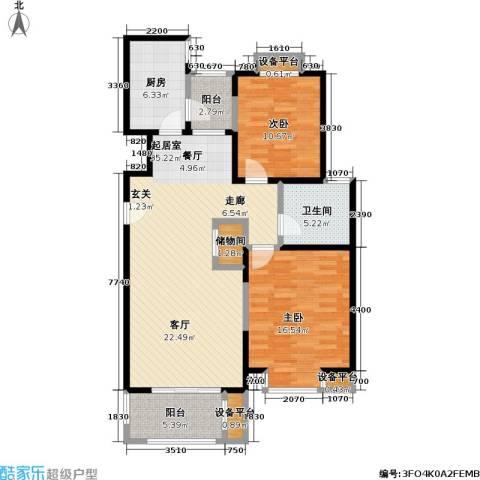 宝地福城惠明苑2室0厅1卫1厨122.00㎡户型图