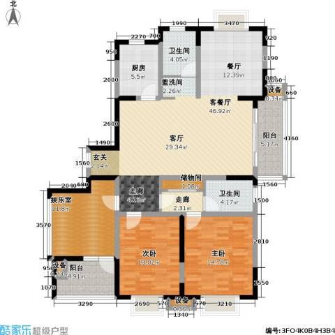 今日嘉园2室1厅2卫1厨132.60㎡户型图