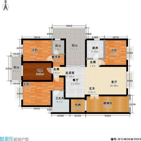 东郊美树苑4室0厅1卫1厨150.00㎡户型图