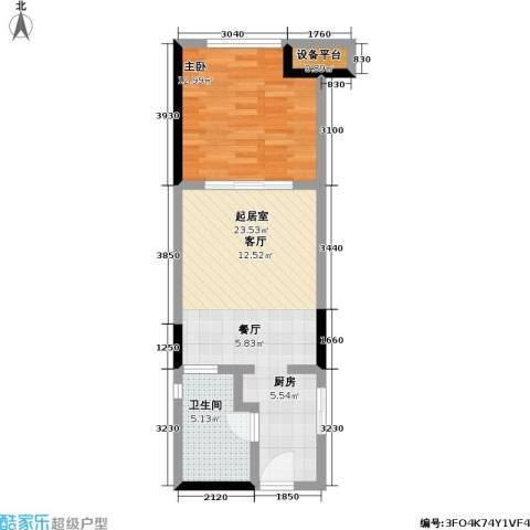 金地澜悦1室0厅1卫0厨67.00㎡户型图