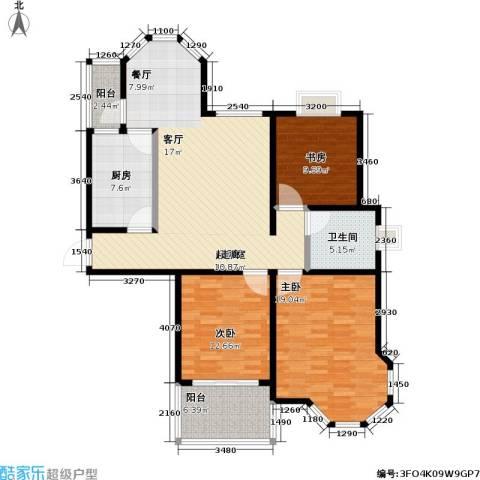 青枫公馆3室0厅1卫1厨112.00㎡户型图