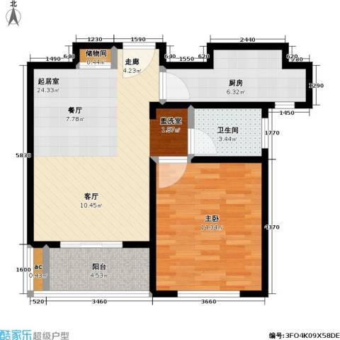 青枫公馆1室0厅1卫1厨62.00㎡户型图