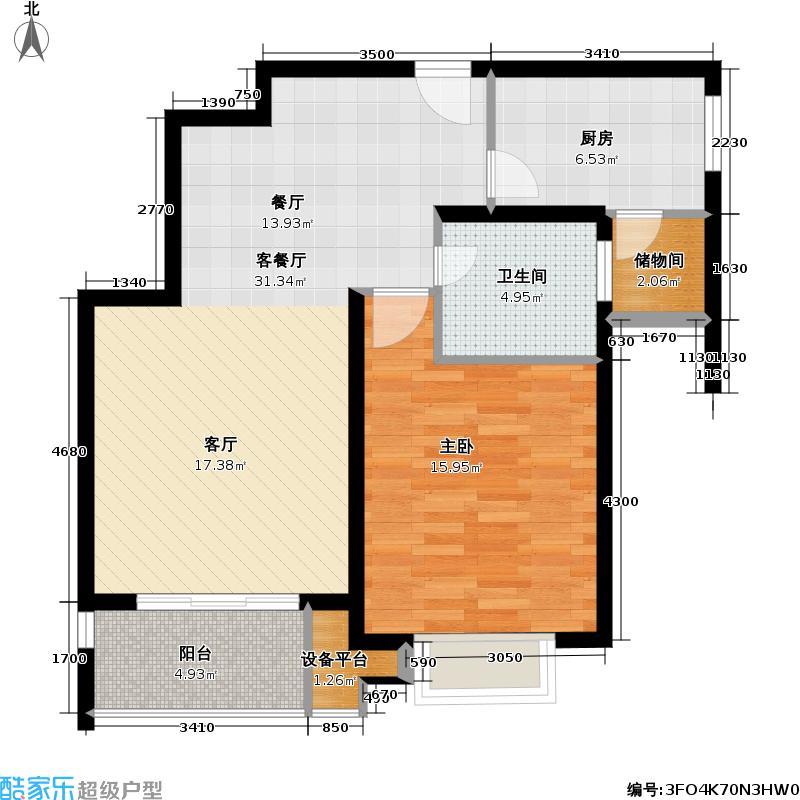 锦绣天第三期76.00㎡房型: 一房; 面积段: 76 -76 平方米; 户型