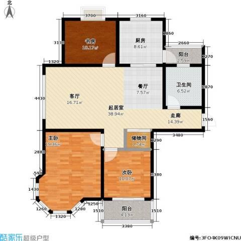 青枫公馆3室0厅1卫1厨115.00㎡户型图