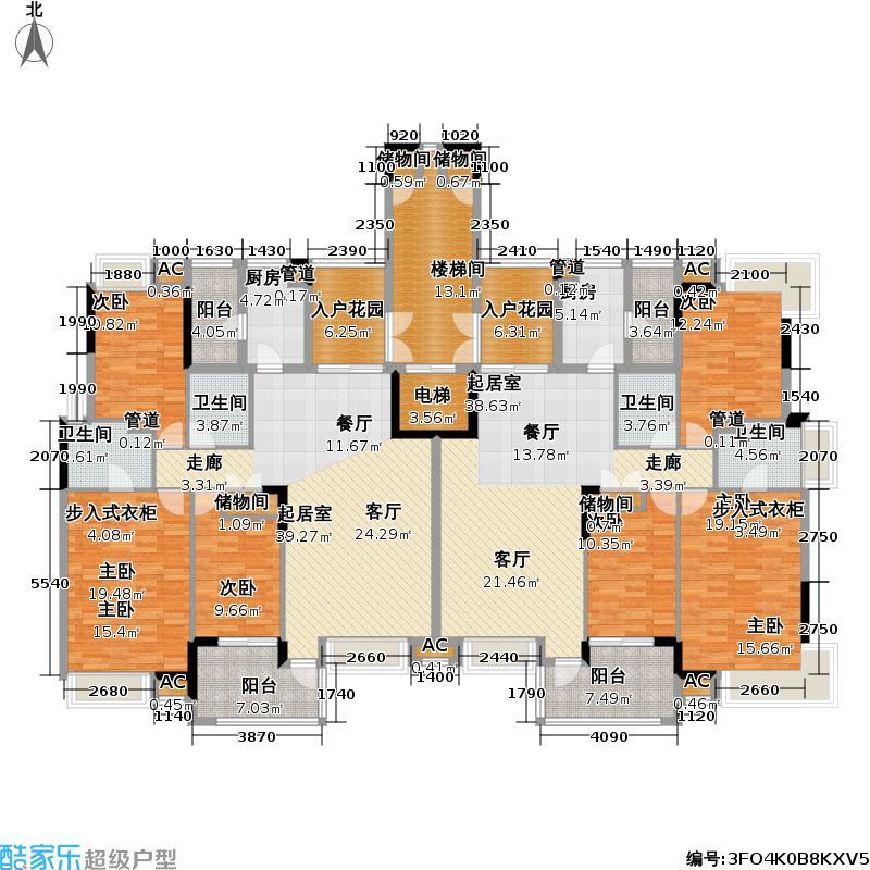 中海・塞纳丽舍户型6室4卫2厨