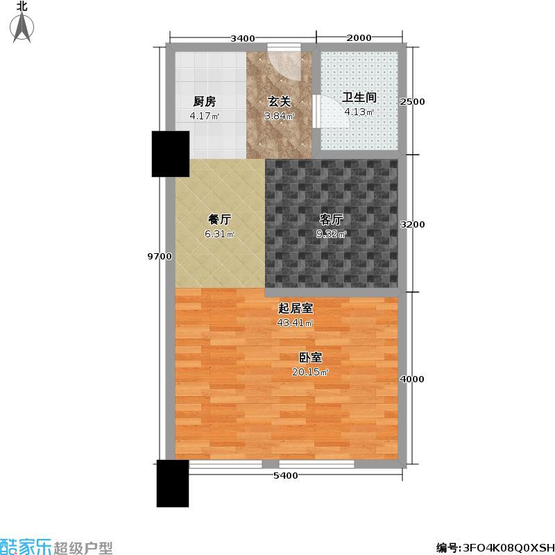 中山广场40.00㎡房型户型