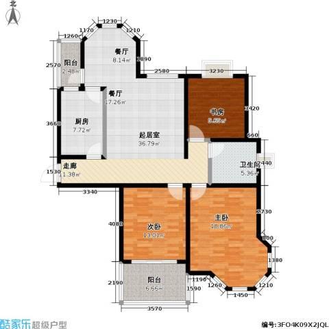 青枫公馆3室0厅1卫1厨119.00㎡户型图