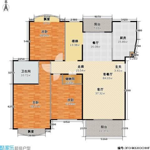 云润家园一期3室1厅1卫1厨229.00㎡户型图