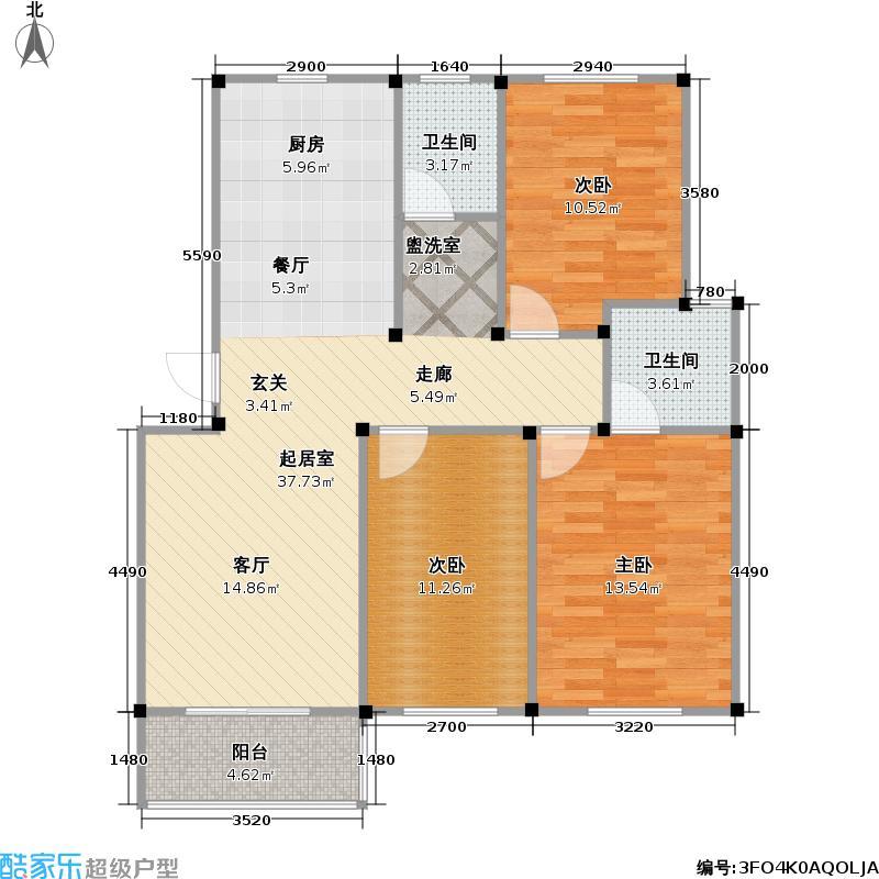 龙海-新加坡花园城户型3室2卫