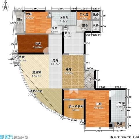高德置地广场3室0厅2卫1厨203.00㎡户型图