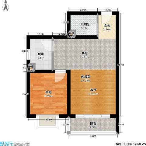 国宾豪庭・快乐空间1室0厅1卫1厨42.51㎡户型图