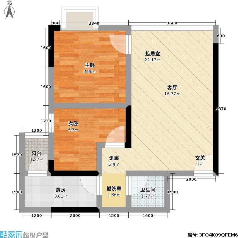 泰亨・彩云印象51.06㎡房型户型