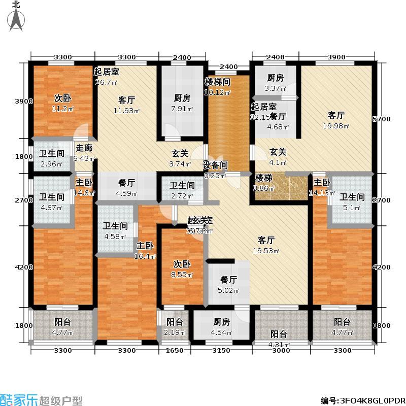 丰卉家园JKL三五层平面户型