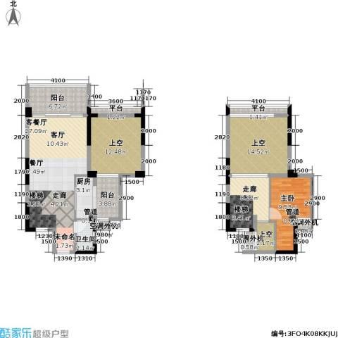 城市花园1室1厅1卫1厨139.00㎡户型图