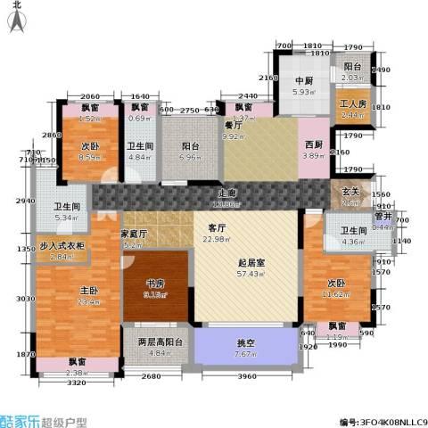 康城国际 中海康城花园4室0厅3卫0厨176.00㎡户型图