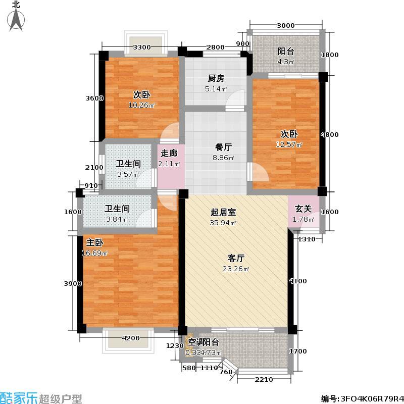 东新熙园92.00㎡房型户型