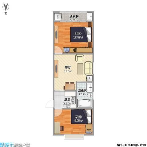 南阳小区2室1厅1卫1厨49.32㎡户型图