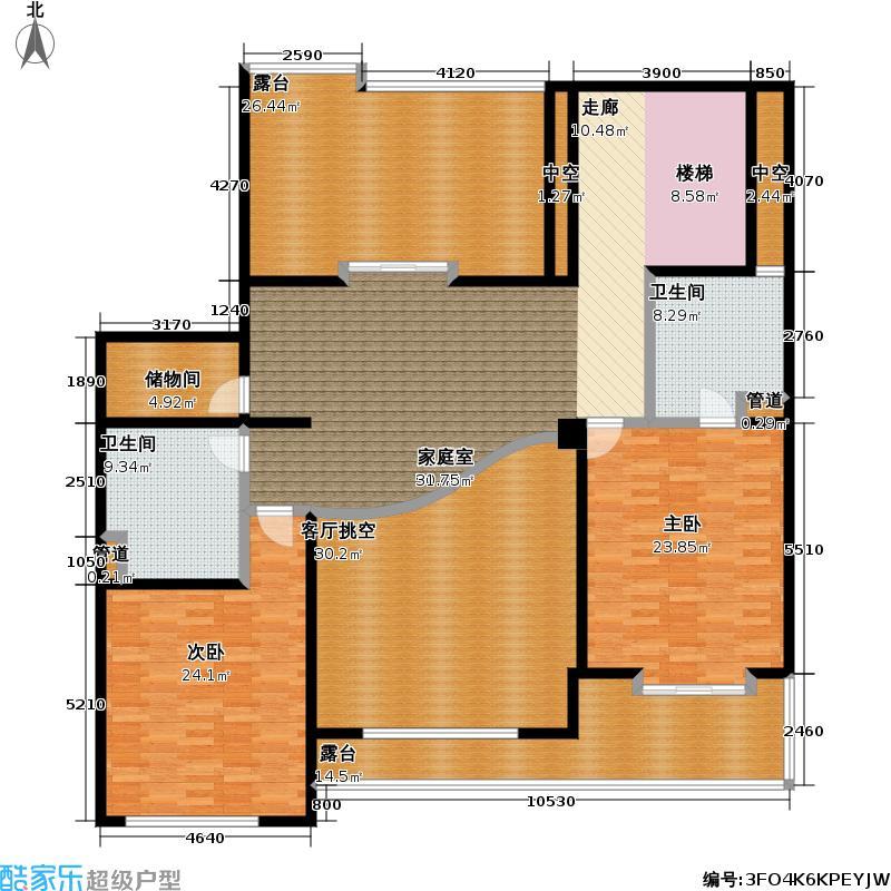 虹桥东苑西块226.00㎡房型: 复式; 面积段: 226 -259 平方米; 户型