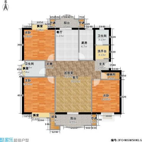 虹桥阳光翠庭3室0厅2卫1厨176.00㎡户型图