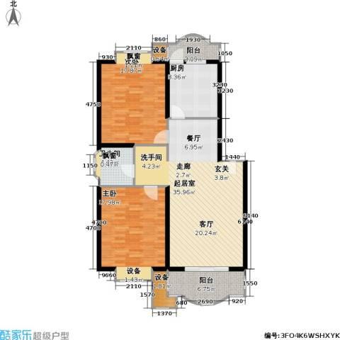 虹桥阳光翠庭2室0厅1卫1厨134.00㎡户型图