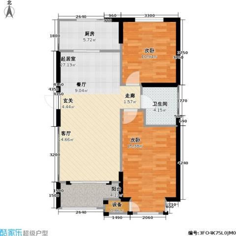 御海龙湾2室0厅1卫1厨94.00㎡户型图