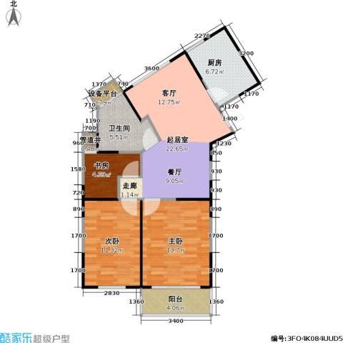 武夷水岸家园3室0厅1卫1厨95.00㎡户型图
